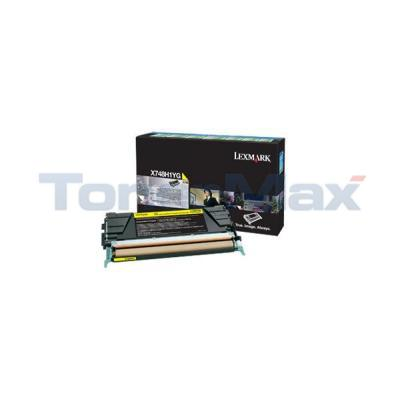 LEXMARK X748 TONER CARTRIDGE YELLOW RP HY